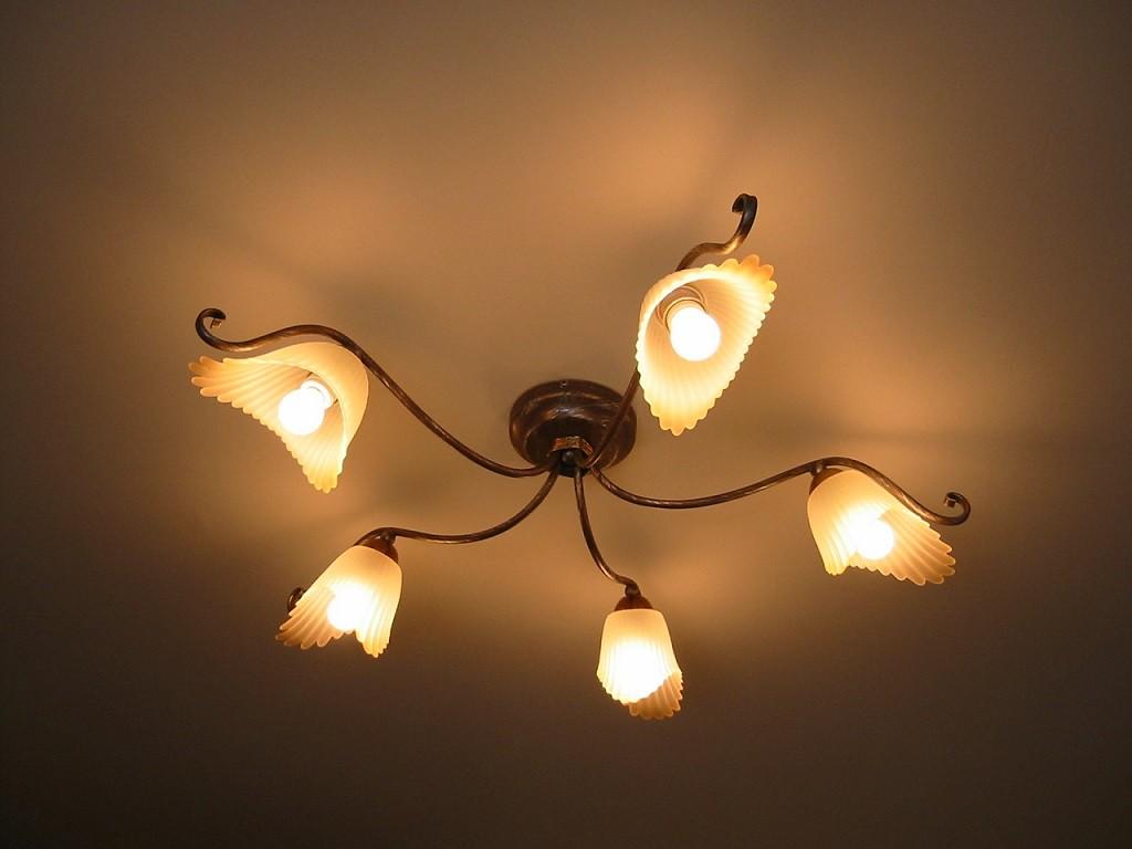 プチサロンのエレガントな照明器具