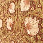 ウィリアム・モリスの壁紙ピンパネルを使用したインテリア