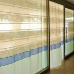 透け感の美しいデザインボーダーカーテンの施工例