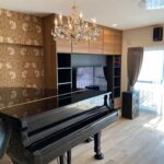 リノベーション後のピアノコーナー